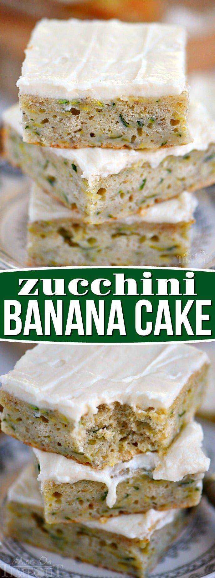 zucchini-banana-cake-collage