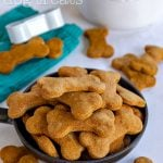 homemade dog treats recipe with title