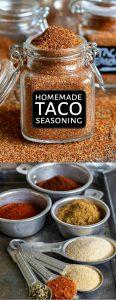 taco seasoning collage