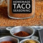 taco seasoning collage