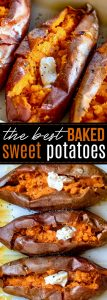 baked sweet potato recipe collage pinterest