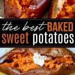 baked sweet potato recipe collage pinterest