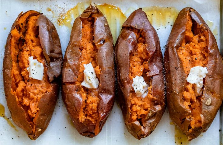 Easy Baked Sweet Potato How To Bake Sweet Potatoes Mom On Timeout