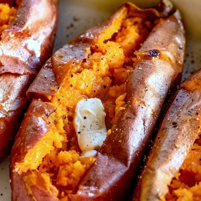 best baked sweet potatoes titled