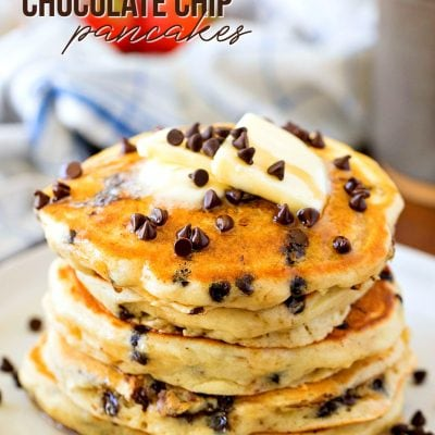 best chocolate chip pancake recipe with title