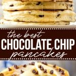best chocolate chip pancakes collage