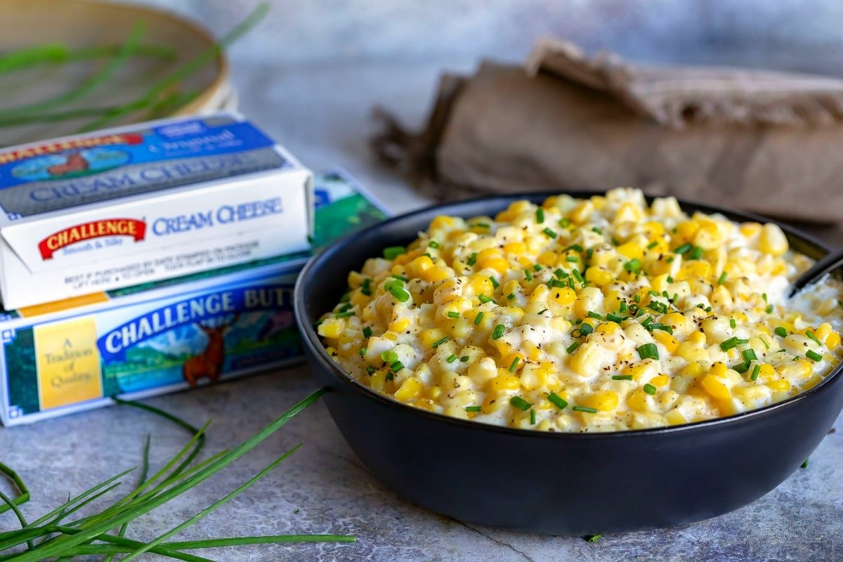 creamed corn recipe with cream cheese and butter