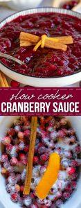 crockpot cranberry sauce pinterest collage