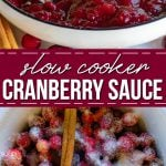 crockpot cranberry sauce pinterest collage
