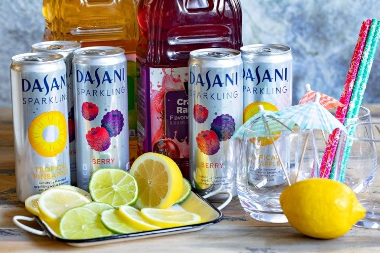 mocktail station with dasani sparkling