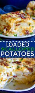 scalloped potatoes recipe collage