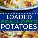 scalloped potatoes recipe collage