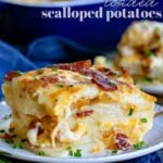 scalloped potatoes with bacon and caramelized onion