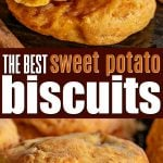 sweet potato biscuit recipe collage