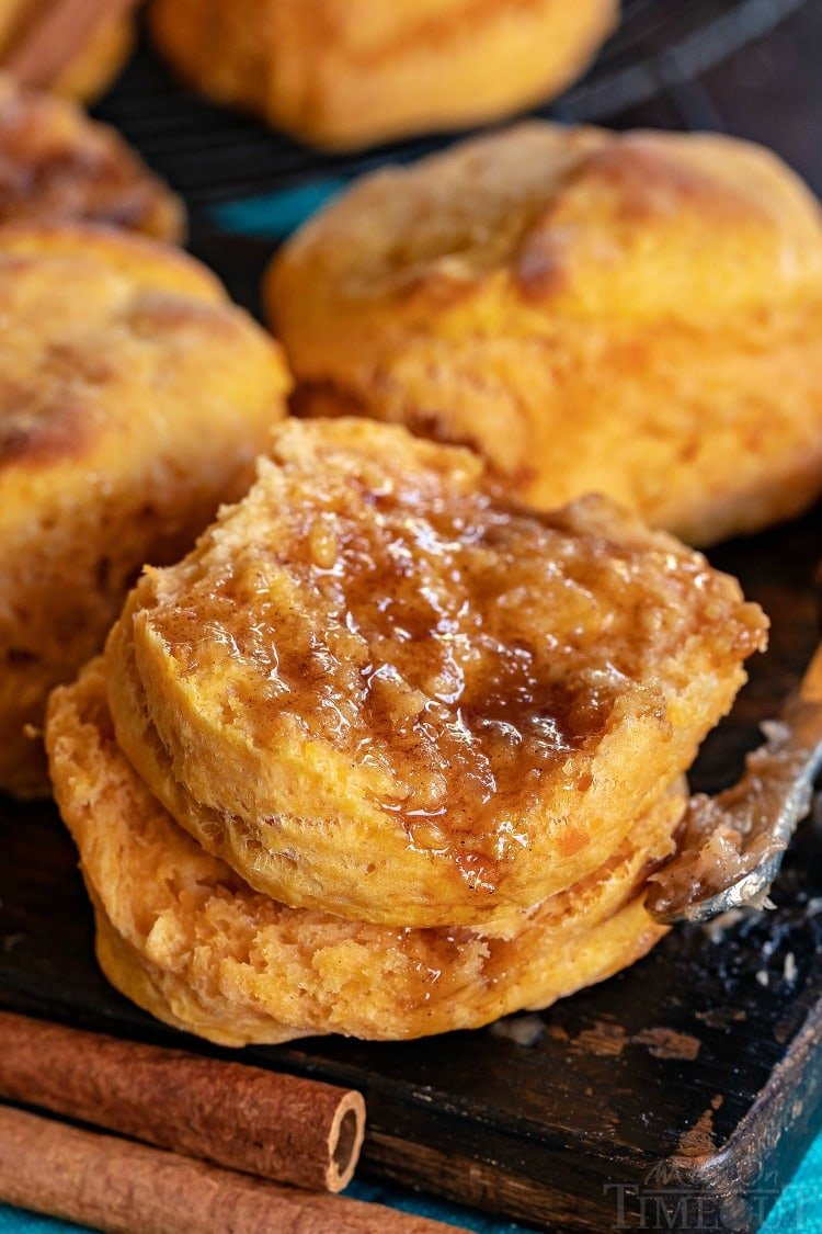 sweet potato biscuit recipe with brown sugar cinnamon butter