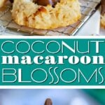 coconut macaroon blossoms recipe collage