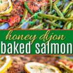 baked salmon pinterest collage