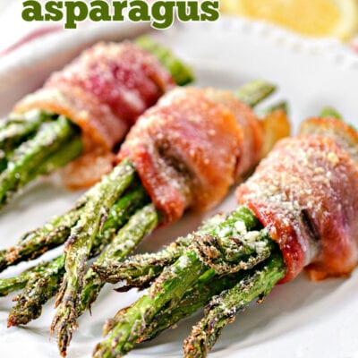 bacon wrapped asparagus recipe with garlic and parmesan