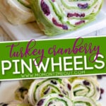 turkey cranberry pinwheels Diagonal 2 image collage Pin for Pinterest