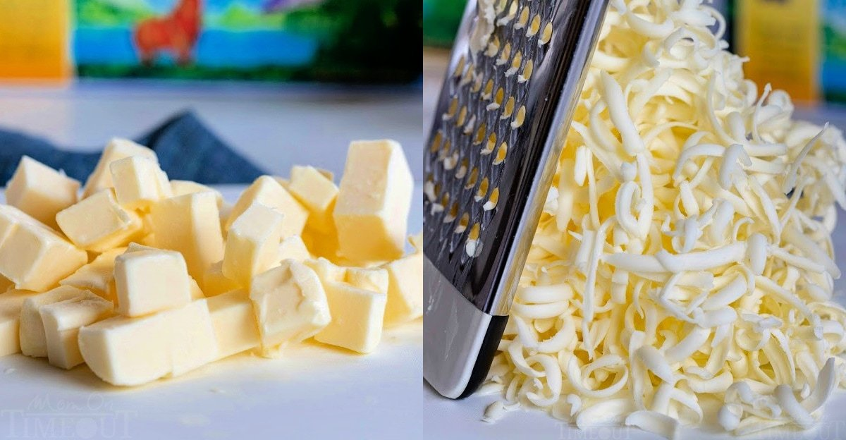 butter cubed and grated for drop biscuits