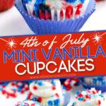 mini vanilla cupcakes 4th of july Diagonal Pin