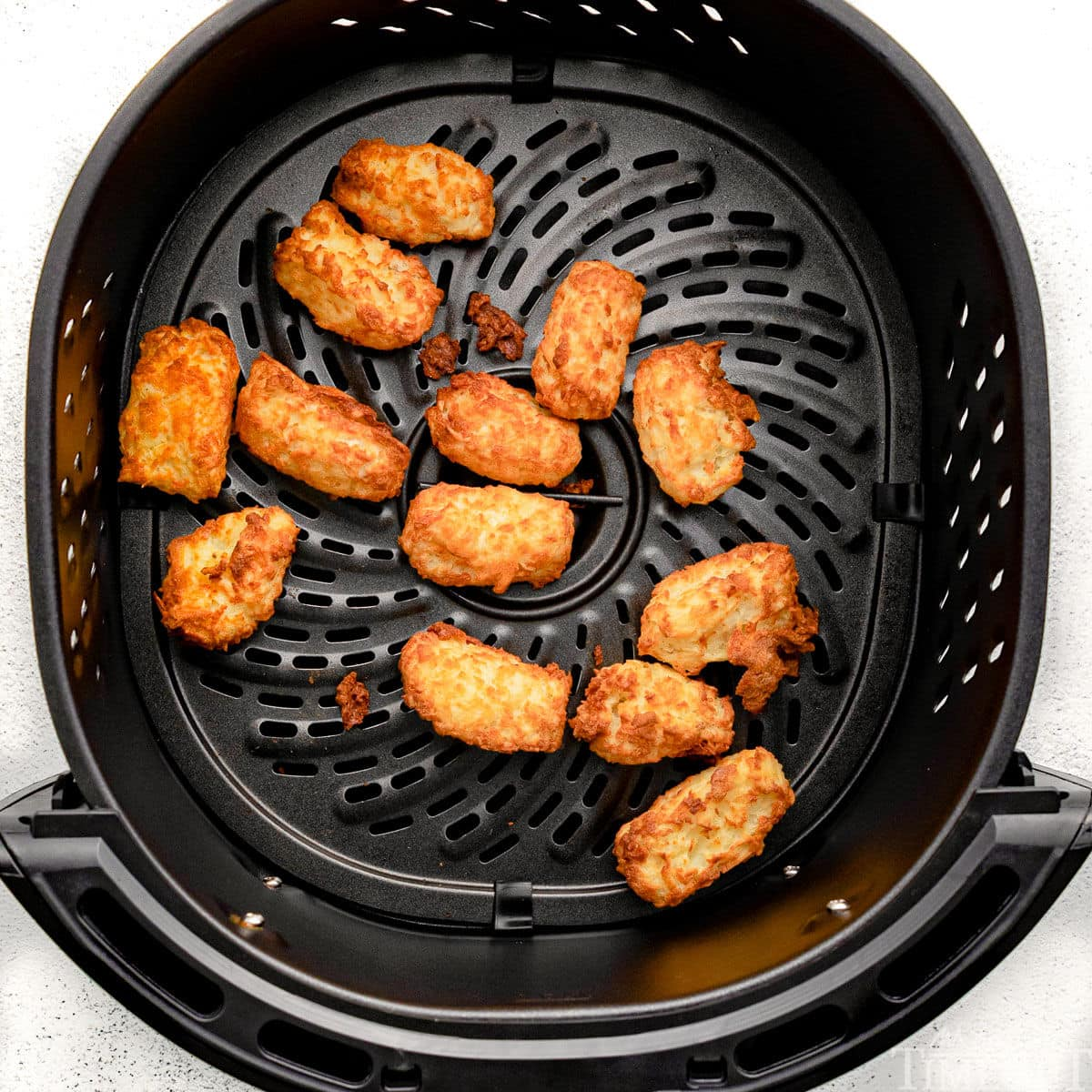 cooked tater tots in air fryer.